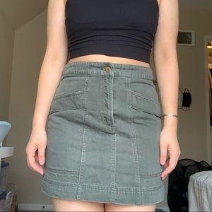 Anna Glover x H&M Khaki Skirt